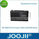 Portable DAB+/DAB/FM Radio With Bluetooth And LCD Display, Alarm Clock Radio With USB SD TF Card