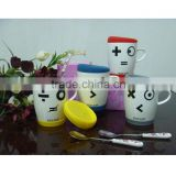2013 newest ceramic travel coffee mug with silicon gel lid and bottom                                                                         Quality Choice