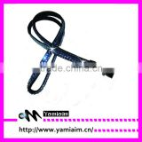 Custom Size Color rhinestone lanyard With bulldog clip