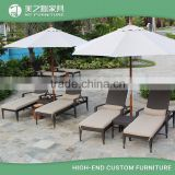 Modern hotel outdoor rattan pool sunbed sun lounger chaise lounge chair