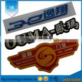 Custom die cut shape metal brand logo label & 3d epxoy resin self adhesive aluminium labels