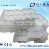Hospital surgical 10x10 12ply x-ray detectable gauze swabs