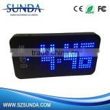 LED Light Display Power Bank 4000mah Alarm Clock