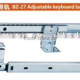 B-27 2-fold adjustable keyboard ball bearing drawer slide