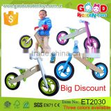 OEM and ODM Certified Factory Handmade Colorful Kids Wooden Balance Bicycle                                                                                         Most Popular