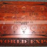Top quality real wood coin display box