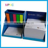 Custom print Promotional Square cube box pen holder and memo pad holder