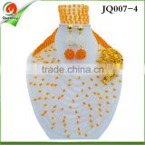 2016 JQ007 colorful Nigeria elegant beads jewelry sets for women wedding Party holiday Christmas Jewelry set
