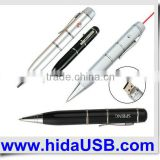 Laser pointer usb flash drive, laser pointer usb pen with ball point pen