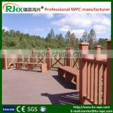 Factory directly wood plastic composite deck flooring/outdoor deck floor covering made of WPC material