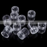 3g, 10g Glitter Empty Bottle Round Storage Bottle Plastic Empty Case Pot Container For Nail Art Rhinestone Bead Gems