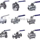stainless steel valve 304/316 thread or flange connection 1000 wog valve with locking handle