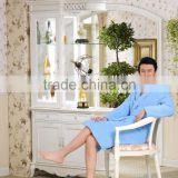 fashion nighty for men 100% polyester high quality coral fleece Men Bathrobe solid color