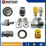 The range includes track roller, carrier roller, sprocket, idler, track link assembly, track shoe, track bolt and nut