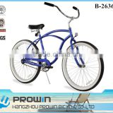 "2016 matte blue 26"" wholesale beach cruiser bike/mens bicicletta cruiser for sale (PW-B26363)"