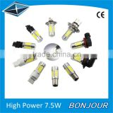 high power 7.5w auto led car light H7 fog light with lens