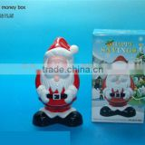 Top quality santa claus plastic coin bank & money box