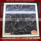 3x3' Crystal Black Granite Floor Tiles Mirror Polish