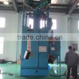 Casting double hook type shotblasting machine/shot peening equipment for bicycle frame rust removal