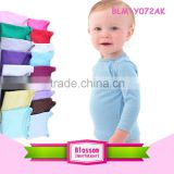 High quality wholesale children's boutique clothing unisex baby lap shoulder t-shirt plain organic cotton t-shirt
