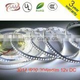 SMD 3014 LED Strip Super Bright 204led/m led tape light DC 12V white or warm white color 5m/lot