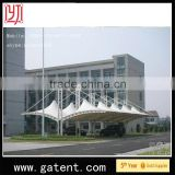 China factory PVDF Cover Q235 Steel Yuetor Brand Umbrella Automatic Outdoor Tent Guarantee year 10years permanent structure