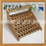 FSC art minds new design essential oil rack varnished oak wooden essential oil display rack