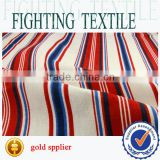 wholesale stripe cotton canvas print fabric for upholstery and garment