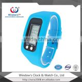 cheap colorful calorie burn counter watch with silicone light strap