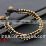 Multilayer brass valve beads resin bangle brass binder clips bracelet for womem's and men's.