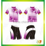 Customed plain cycling jersey Sublimation Printing bike clothes for women