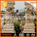 Outdoor villa garden design stone marble angel tombstone