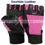 Genuine Leather Weight Lifting Gloves, Black And Red Fitness Training Weight Lifting Gloves, PAYPAL ACCEPTED