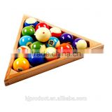 Billiard ball wooden triangle with sharp angled