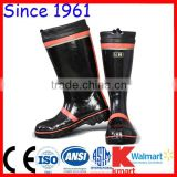 Steel Insole Black and Red Color Top tied Fashion Mining Rubber Boots Anti-Smashing Rubber Boots Anti-Puncture Rubber Boots