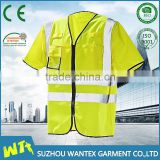 high quality safety working tshirt reflective clothing wholesale cheap polyester tshirt reflective road custom t shirt