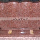 G562 China Maple Red Granite Book Shape Headstone Monument