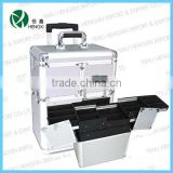 aluminum trolley makeup cosmetic case rolling aluminum makeup train artist case trolley beauty case luggage bags