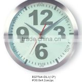 12inch 3D dial Aluminium Wall Clock With World Clock made in china!