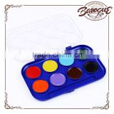 Wholesale 8 colors semi-dry watercolor cakes,solid powder cakes for kids watercolor painting