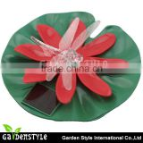 china led light fixtures in china, solar floating ball Lotus Flower with dragonfly shape led light wholesale price