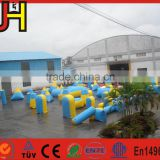 Air tight inflatable paintball barriers, paintball inflatable bunkers, inflatable movable barriers