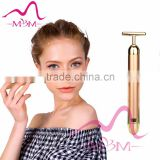 Portable Smart Firming Massage vibration 24K gold plating Electric V face lift massage beauty bar
