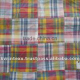 2015 patchwork madras plaid fabric