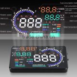 "2016 New 5.5"" Screen A8 Auto Car HUD Head Up Display KM/h & MPH Overspeed Warning Alarm System Car Speed Head UP LED Display"