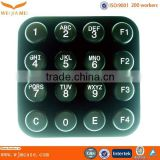Waterproof Customized Electronic Silicone Conductive Wireless Numeric Keypad Manufacturer