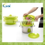 MA-789 2013 Factory Direct Sell Silicone factory Microwave Silicone Collapsible Steamer Cooker