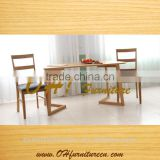 Eco-friendly Factory direct sale modern four seater dining table and chair set solid wood dining table chair set