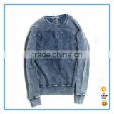 Custon 100% cotton oversized plain hoodie pullovers wholesale snow wash hoodie in guangzhou
