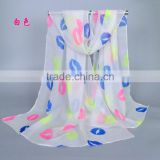 2017 2018 hot selling fashionable lightweight women spring summer lip printed scarf